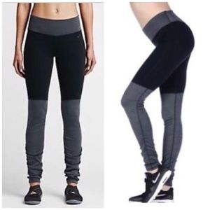 Nike Legend Ruched Leg Barre Leggings - Sz Small